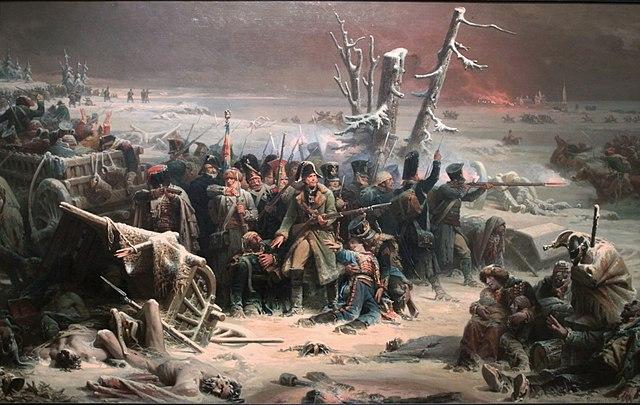La Retraite du Maréchal Ney en Russie, Manchester Art Gallery.
