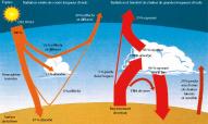 Les flux de chaleur dans l'atmosphère et leur contribution au bilan radiatif