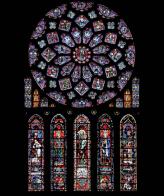 Les vitraux de la cathédrale de Chartres, XIIIe siècle. Une impressionnante maîtrise de la coloration du verre.
