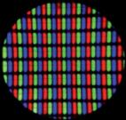 Le zoom sur un écran fait apparaître des pixels. Source : BASF.