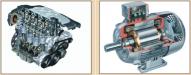 Moteur thermique et moteur électrique