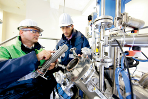 Safety experts in a production plant