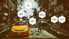 Produits de combustion, polluants primaires, aérosols, composés organiques volatils, particules en suspension… : la pollution atmosphérique est complexe. PM : particulate matter (particules en suspension).